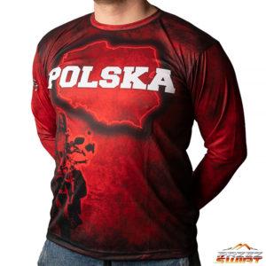 Koszulka termoaktywna z długim rękawem motocykl Honda Africa Twin CRF 1000 Polska