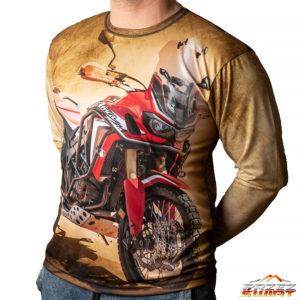 Koszulka termoaktywna z długim rękawem motocykl Honda Africa Twin CRF 1000 czerwona