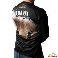 Koszulka termoaktywna z długim rękawem Travel is a state of mind motocykl BMW GS 1200 LC ADV
