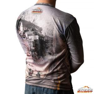 Koszulka termoaktywna z długim rękawem Bo droga jest celem...motocykl BMW GS 1200 LC ADV