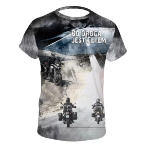Koszulka motocyklowa bo droga jest celem
